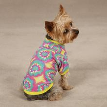 Starburst Tie Dye Dog T-Shirt - Yellow