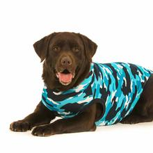 Suitical Dog Recovery Suit - Blue Camo