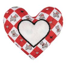 Sweetheart Scottie Dog Toy - Heart