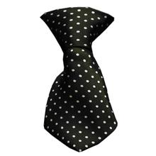 Swiss Dot Dog Neck Tie - Black