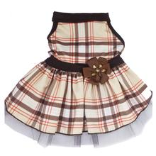 Tan Plaid Dog Dress by I See Spot