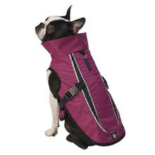 Taos Two-Tone Dog Coat - Raspberry