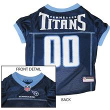 Tennessee Titans Officially Licensed Dog Jersey - Light Blue Trim