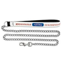 Texas Rangers Leather Dog Leash