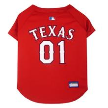 Texas Rangers Officially Licensed Dog Jersey - Red