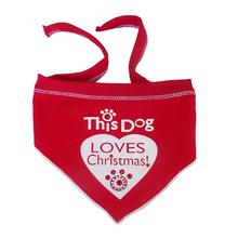 This Dog Loves Christmas Dog Scarf - Red