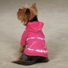 Tie Dye Dog Hoodie - Raspberry
