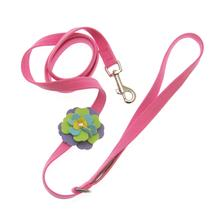 Tinkie Fantasy Flower Dog Leash by Susan Lanci - Perfect Pink