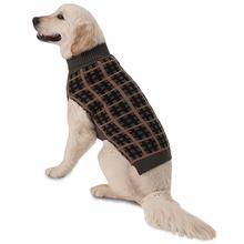 Toby's Plaid Dog Sweater - Dark Gray