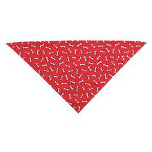 Tossed Bones Dog Bandana - Red
