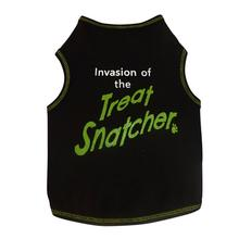 Invasion of the Treat Snatcher Dog Tank - Black