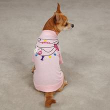 Trendy Necklace Dog T-Shirt - Pink