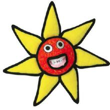 Tuffy Alien Sun Flower Dog Toy - Red