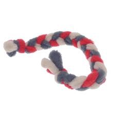 Twist Braided Dog Tug Toy - Red/Gray