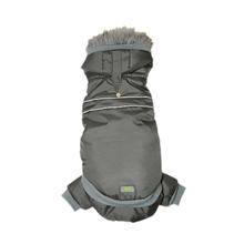 Two Piece Dog Snowsuit by Go Fresh Pet - Charcoal Gray