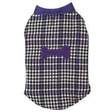 Ultra Violet Reversible Houndstooth Dog Vest
