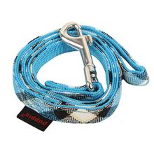 Uptown Argyle Dog Leash by Puppia - Blue