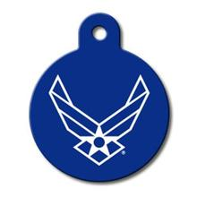 U.S. Air Force Engravable Pet I.D. Tag - Large Circle