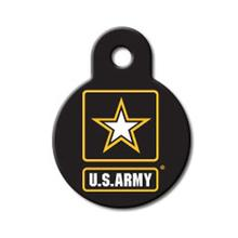 U.S. Army Engravable Pet I.D. Tag - Small Circle