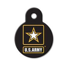 U.S. Army Engravable Pet I.D. Tag - Small Circle