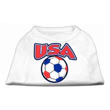 USA Soccer Print Dog Shirt - White