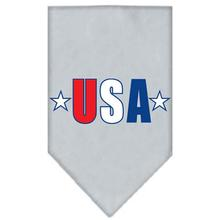 USA Star Screen Print Dog Bandana - Gray