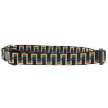 Utility Clip Dog Collar - Black Stairs