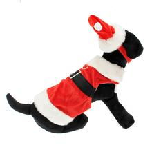 Velvet Santa Boy Suit w/ Hat & Leash