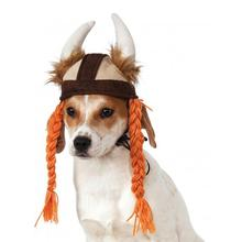 Viking Hat with Braids Dog Costume