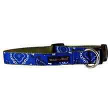 WaLk-e-Woo Bandana Dog Collar - Blue