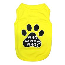 Who Saved Who Dog Tank - Yellow