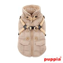 Wilkes Fleece Dog Vest by Puppia - Beige
