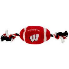 Wisconsin Badgers Plush Football Dog Toy