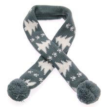Worthy Dog Holiday Ski Dog Scarf - Alpine Gray