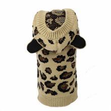 Worthy Dog Leopard Dog Hoodie - Tan