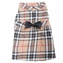 Worthy Dog Tan Plaid Dog Dress