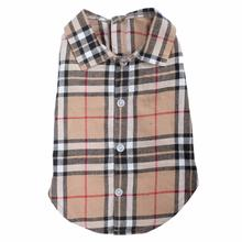 Worthy Dog Tan Plaid Dog Shirt