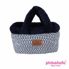 Xena Bed Dog Car Seat by Pinkaholic - Navy