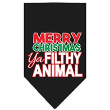 Ya Filthy Animal Dog Bandana - Black