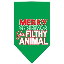 Ya Filthy Animal Dog Bandana - Green