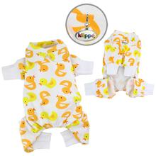 Yellow Ducky Knit Cotton Dog Pajamas by Klippo