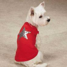 Zack & Zoey America's Pup Sequin Star Dog Tank - Red