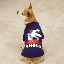 Zack & Zoey Barkaholic Dog T-Shirt - Blue