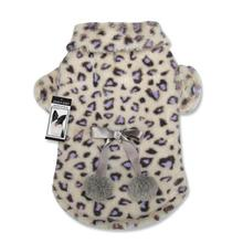 Zack and Zoey Cheetah Plush Dog Coat