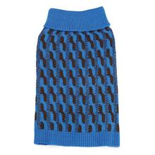 Color Twist Dog Sweater - Blue