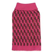 Color Twist Dog Sweater - Pink