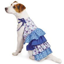 Darling Daisy Tiered Dog Dress - Blue