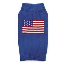 Zack and Zoey Elements American Flag Dog Sweater - Blue