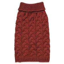 Zack and Zoey Elements Chunky Cable-Knit Dog Sweater - Red