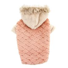 Zack and Zoey Elements Faux Fur Dog Jacket - Pink